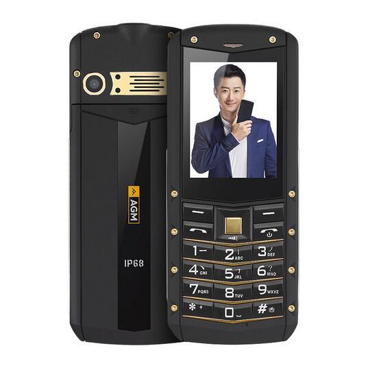"Gift AGM M2 IP67 Waterproof Phone 2.4"" 1970mAh GSM Dual SIM Card 0.3MP FM Flashlight elder outdoor Mobile Phone Russian in stock"