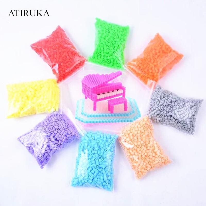 5mm Hama Beads Puzzle Juguetes educativos Juguetes 3D rompecabezas 48 colores Perler Beads Fuse Beads para niños 500 unids/bolsa