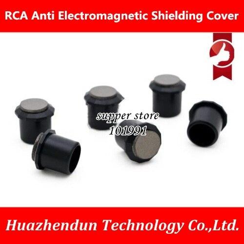 Cubierta blindada RCA de alta calidad negro rodio MWA-RC absorción de onda magnética Tapa Protectora