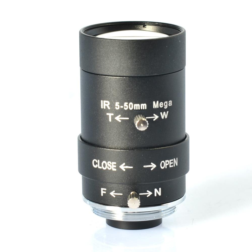5-50mm CS Mount HD Manual Focus Vari-Focal CCTV Lens F1.6 Aperture for CCTV Camera