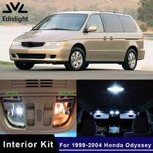 Edislight 13Pcs Weiß Eis Blau LED Lampe Auto Lampen Interior Package Kit Für 1999-2004 Honda Odyssey Karte dome Trunk Platte Licht