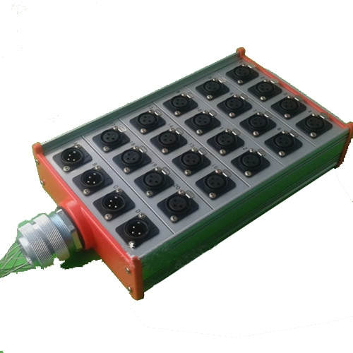 صندوق كابلات 24 قناة مع 20 مقبس أنثى xlr و 4 مقابس ذكر XLR