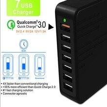 USB carregador de Carga Múltipla carregamento Rápido 7 Porta USB de Multi Carregador carregador Chargeur de Vários Dispositivos USB de Carregamento de Carga Rápida