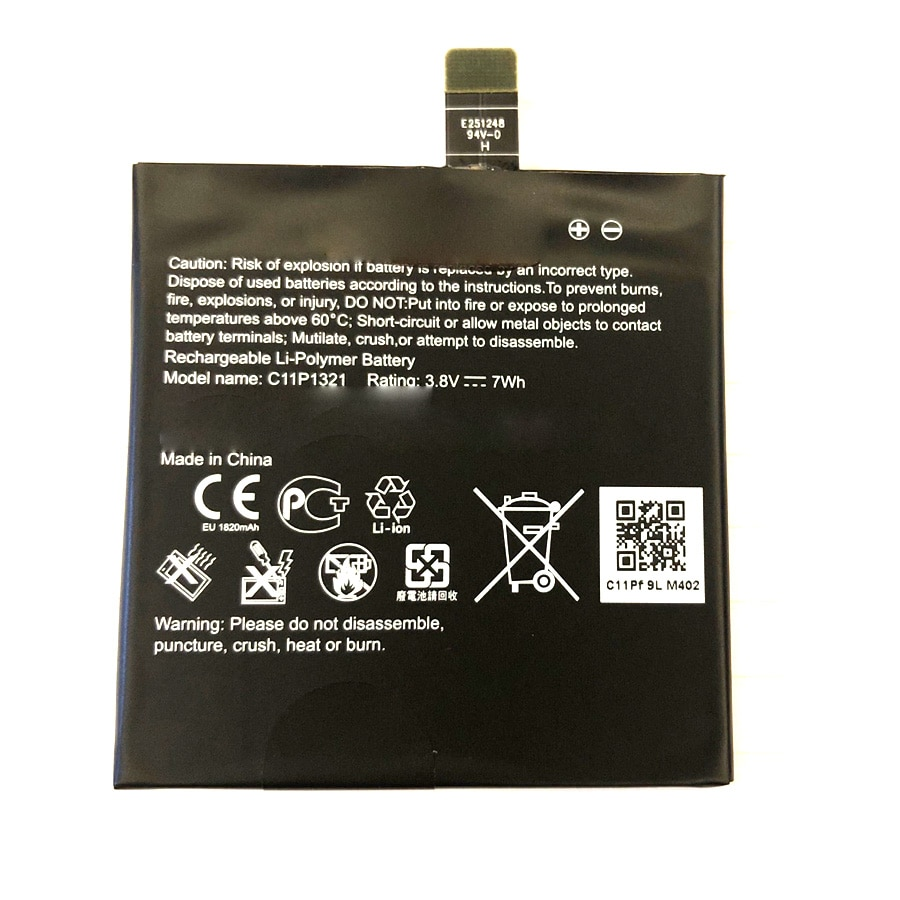 1820 mAh Bateria Para ASUS padfone E T008 c11p1321 A68M A68E A68S 4.7 polegada + Número de Rastreamento