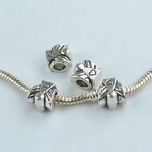 15 pcs alloy beads angel charm tibetan silver diy beads for European bracelet jewelry making 1843