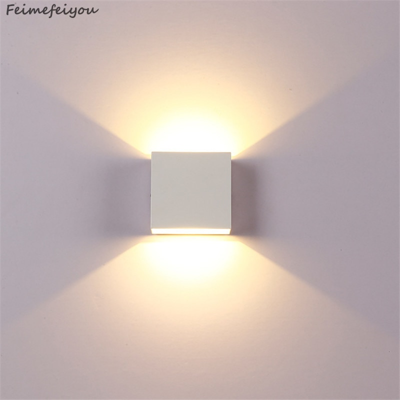 wall light lamps outdoor lighting 6W lampada LED Aluminium rail project Square LED lamp bedside ligh