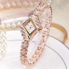 2019 JW Top Merk Vrouwen Armband Horloges Luxe Strass Gouden Jurk Horloge Vrouwen Fashion Casual Alloy Quartz Horloges JW061