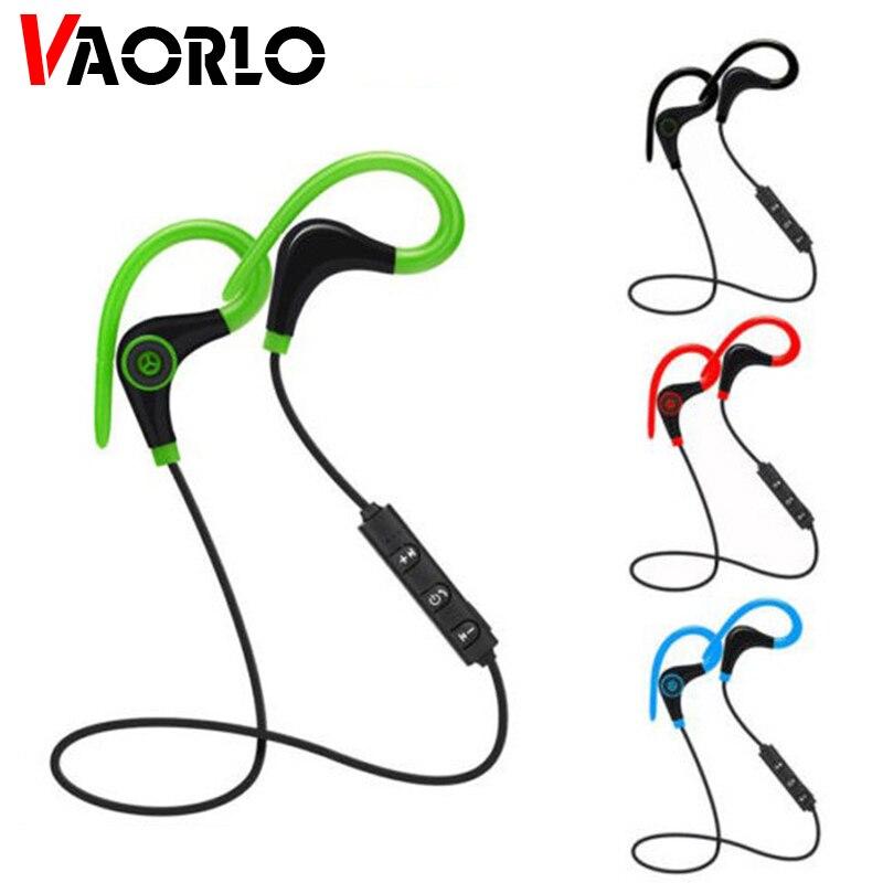 Auriculares inalámbricos Bluetooth VAORLO, Auriculares deportivos manos libres, auriculares rojos con micrófono para Xiaomi Auricular de ouvido