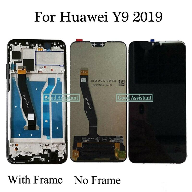 Pantalla LCD + MONTAJE DE digitalizador con pantalla táctil con Marco, 100% probado, Original, de alta calidad, 6,5 pulgadas para Huawei Y9 2019