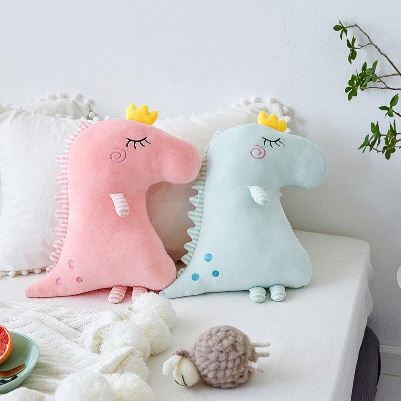 New Nordic Dinosaur Plush Pillow Kids Dinosaur Toys Soft Decorative Stuffed Cushion Baby Pillow Decorate Nursery Room Decor