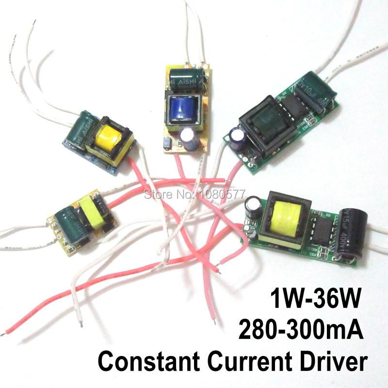 2 uds controlador de LED de corriente constante de encendido para lámpara de 280mA 300mA 1W 3W 5W 7W 9W 10W 20W 30W 36W 50W aislamiento transformador