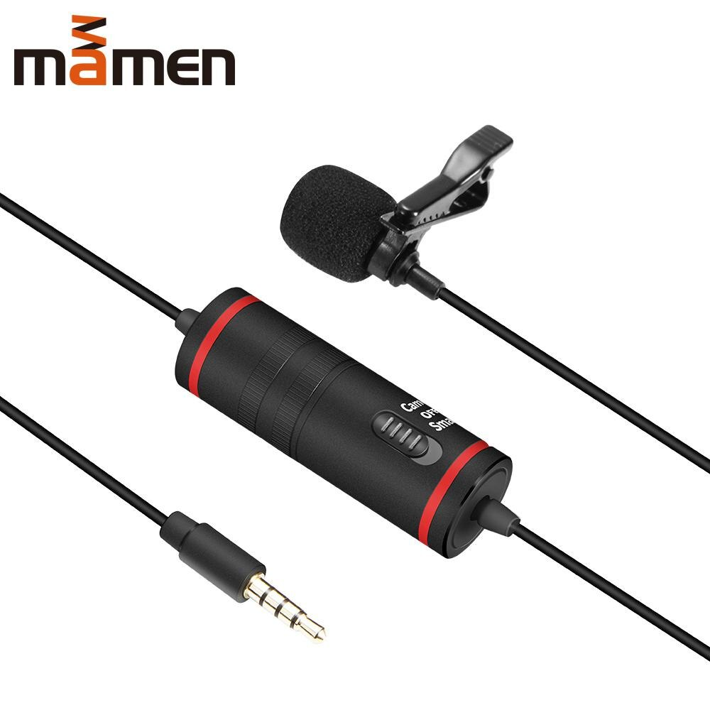 Studyset MAMEN km-d1 Lavalier micrófono con cable solapa condensador micrófono para videocámaras DSLR para grabadora de Audio y vídeo