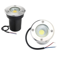 IP68 3W 5W 10W COB su geçirmez LED yeraltı işık açık zemin bahçe yolu zemin gömülü Yard Spot peyzaj AC110V220V DC12V