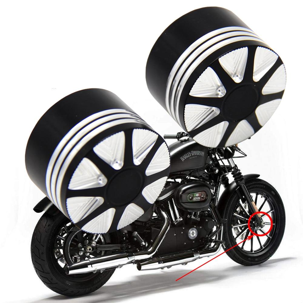 Delantero de la motocicleta CNC tuerca del eje cubiertas para Harley Sportster 883 1200 XL Dyna FXD Road King FLHR FLTR Street GLIDE gordo Bob V Rod