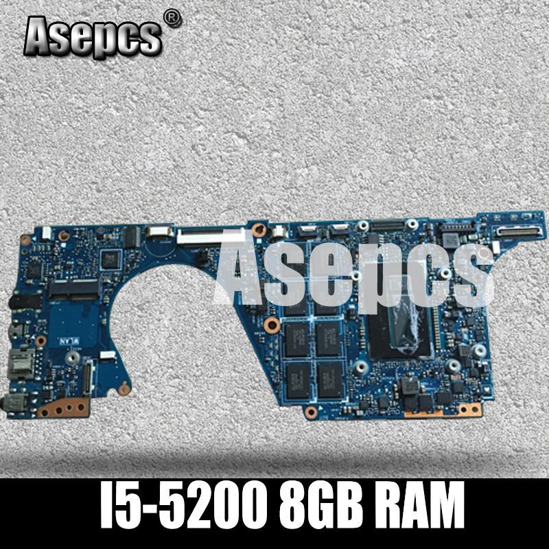 Asepcs UX301LA اللوحة الأم للكمبيوتر المحمول For Asus UX301LA UX301LAA UX301L UX301 اختبار اللوحة الرئيسية الأصلية I5-5200 8GB RAM