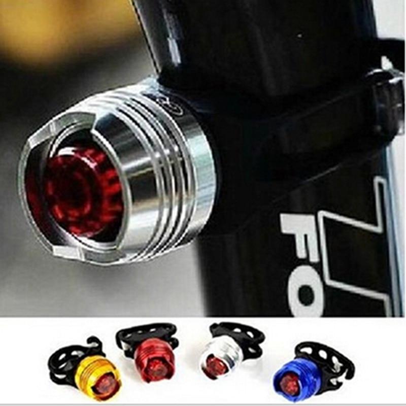 1Pcs Bicicleta LEVOU À Prova D Água Bicicleta Ciclismo Frente traseiros Vermelho/Branco Lâmpada de Flash Luz de Advertência de Segurança Ciclismo Cuidado Luz Da Bicicleta