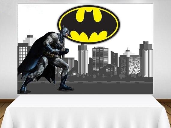 Фон для студийной фотосъемки с изображением Бэтмена супер героя города горизонта высокого качества с компьютерной печатью