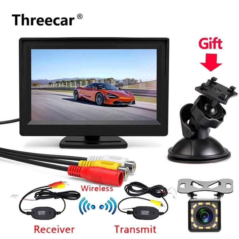 مجموعة كاميرا الرؤية الخلفية للسيارة الجديدة ، 5 بوصة ، شاشة LCD احتياطية ، نظام وقوف السيارات عالي الدقة ، جهاز إرسال لاسلكي