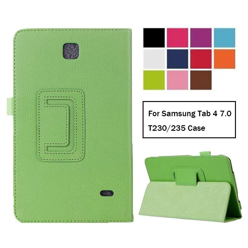 Caso para Samsung Galaxy Tab 4 7,0 T230 T231 T235 Funda de cuero para Samsung Tab4 7,0 SM-T230 SM-T231 caso
