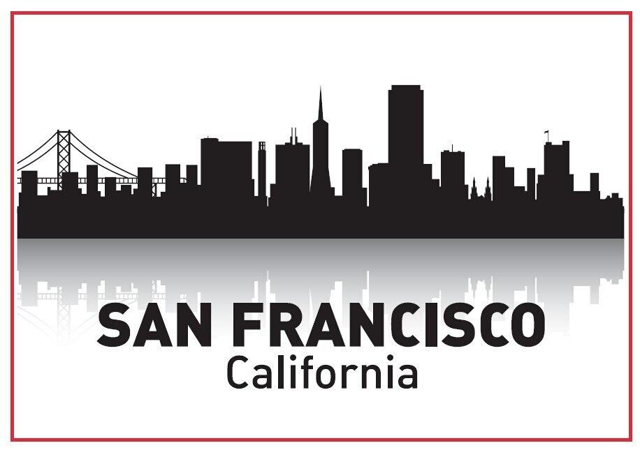 California San Francisco Skyline Souvenir de imanes de nevera de 20273
