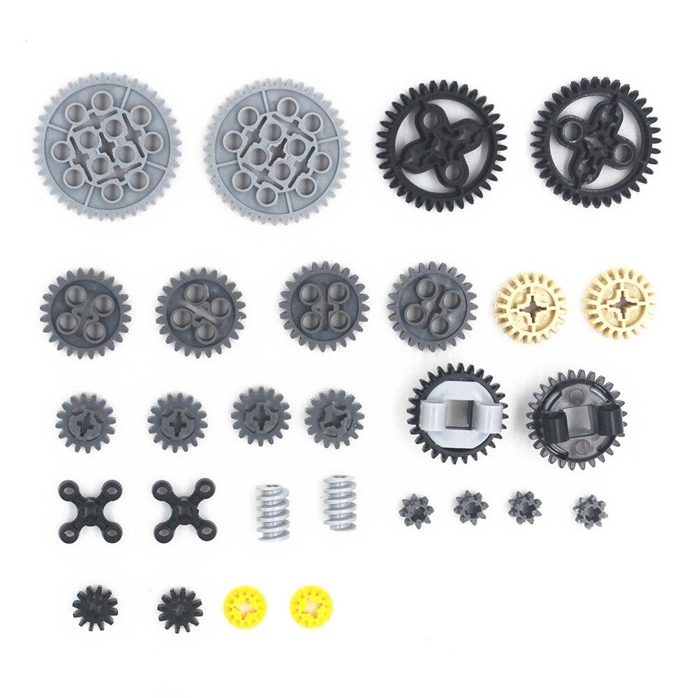 MOC Technic Teile 28 stücke Technik Gears Sortiment Pack kompatibel mit lego für kinder jungen spielzeug MOC-TSMA28