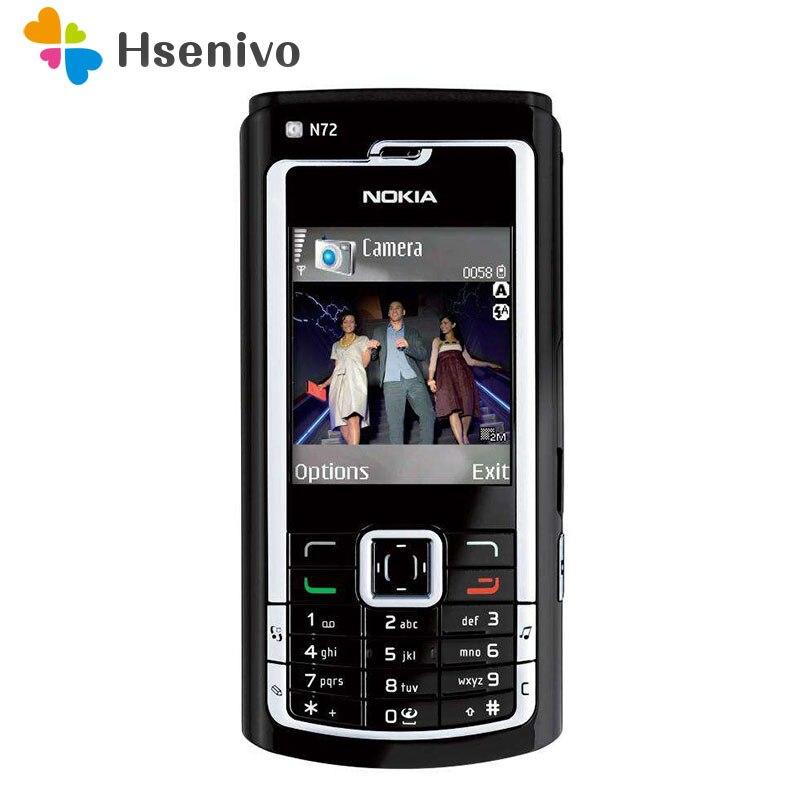 N72 Original NOKIA N72 del teléfono celular móvil y ruso teclado árabe y un año de garantía envío gratuito