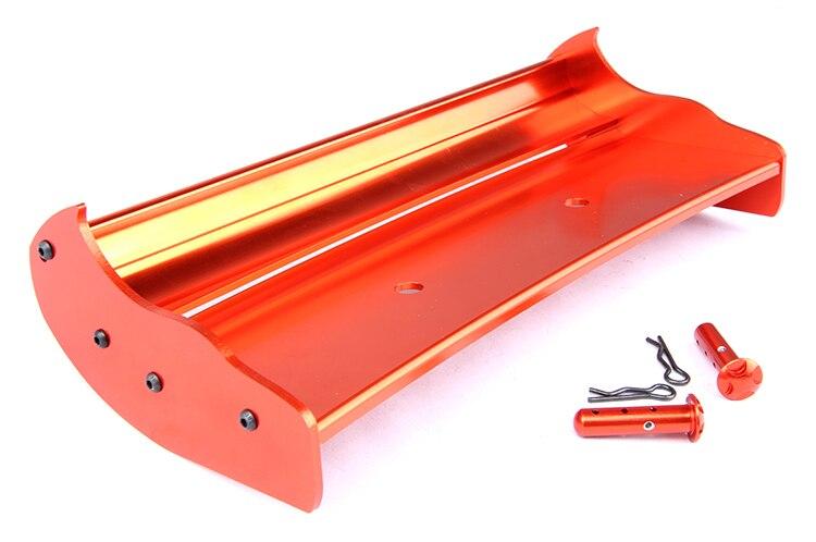 1/5 Baja CNC крылья с креплением крыла для масштаба HPI KM 5b 5t серебристый/оранжевый