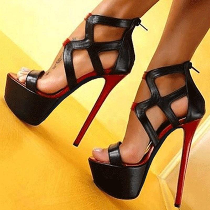 Shofoo أحذية ، الحلو نمط أحذية نسائية ، حوالي 14.5 سنتيمتر صنادل عالية الكعب. صنادل نسائية. الصيف أحذية نسائية. الحجم: 34-45