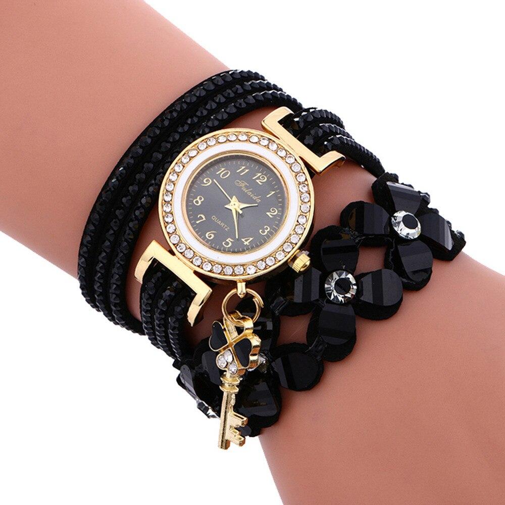 Mujer reloj de moda relogio femenino campanas de diamantes pulseras de cuero para las mujeres reloj de pulsera envío nuevo