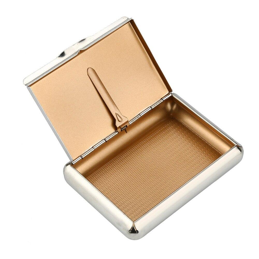 Caja de cigarrillos de Metal para tabaco tamaño de bolsillo (95*70 MM) caja de cigarrillos almacenamiento para 70MM soporte para papeles lata de tabaco 2019 A45