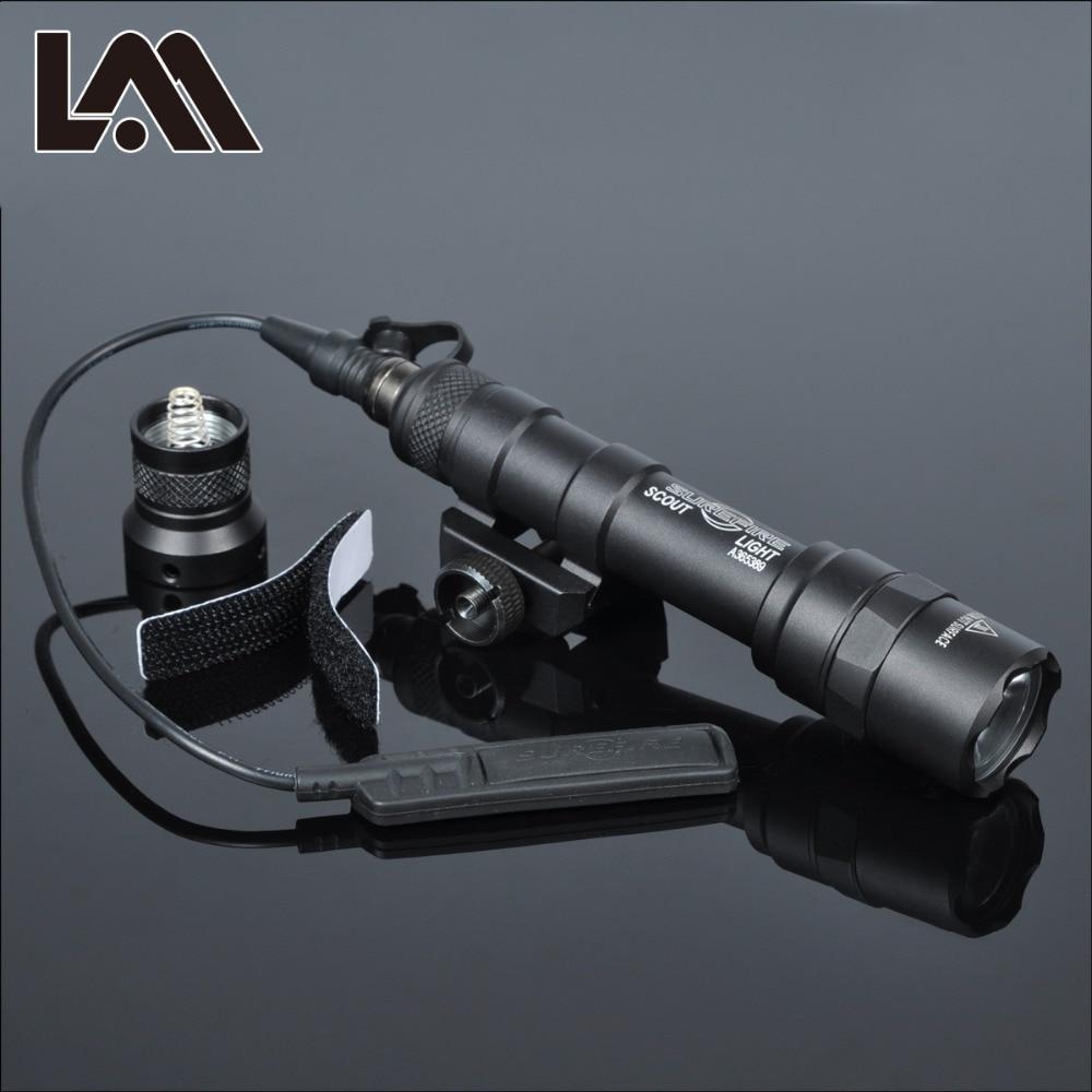 Tactical SF M600 M600B Weapon Gun light Lanterna Airsoft Rifle arma Flashlight Pistol Scout Light Torch  Hunting Pictinny Rail