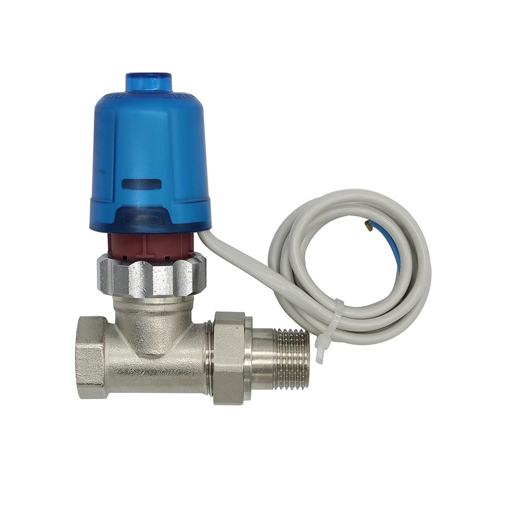 230V 24V عادة إغلاق الكهربائية الحرارية المحرك ل غرفة التحكم في درجة الحرارة المبرد النحاس صمام DN15-DN32