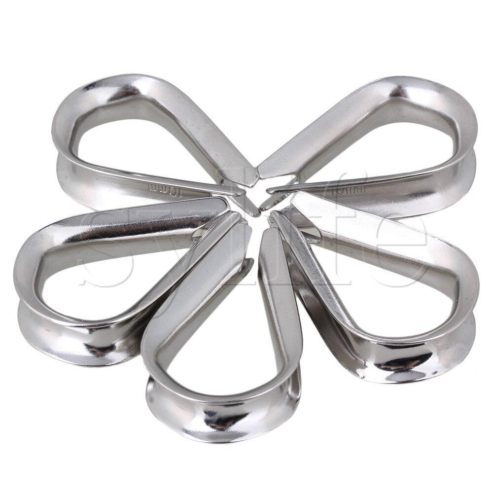 5 piezas M10 de dedal de cuerda de alambre de plata para Wirerope estilo europeo