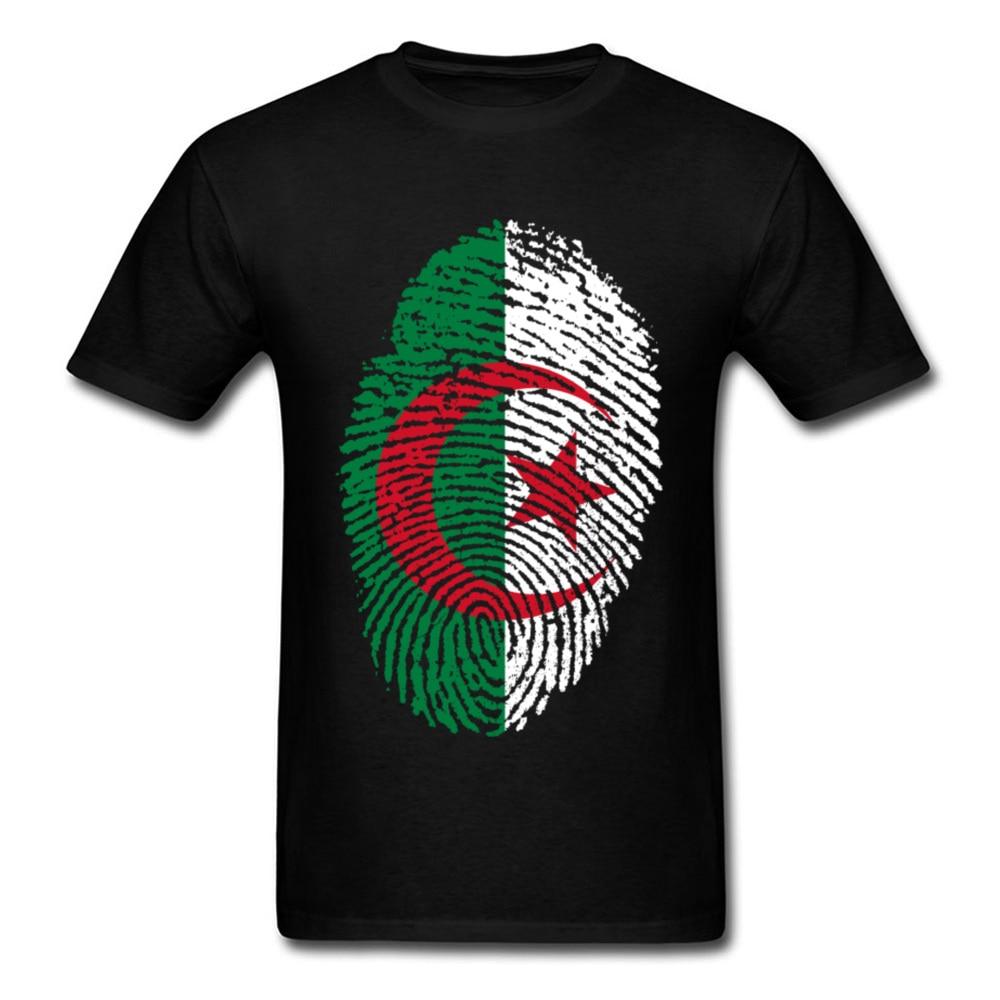 Imagine Dragons herren-Land T-shirt Algerien Flagge Fingerprint Graphic Tees Männer Tops T-Shirt 100% Atem Mode T-Shirt