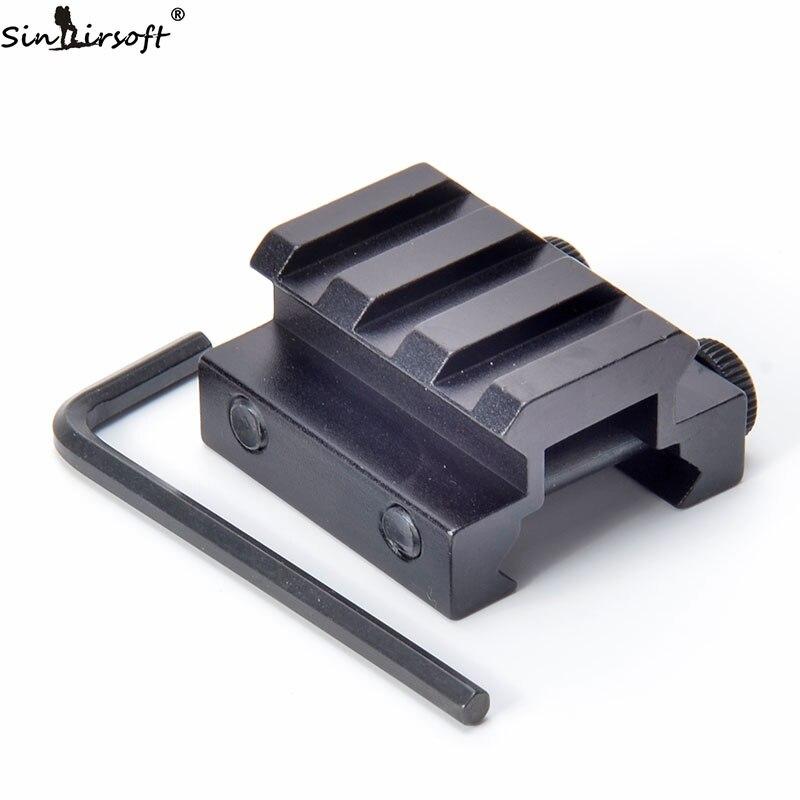 Universal 1/2'' Half(inch) 3 Slot Low Profile Riser Block Mount 20mm WEAVER PICATINNY Rifle Base/Scope Adapter Mount Rail