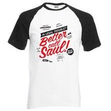 Meilleur appel Saul émission de télévision t-shirt 2019 nouvel été 100% coton raglan hommes t-shirt pour les fans