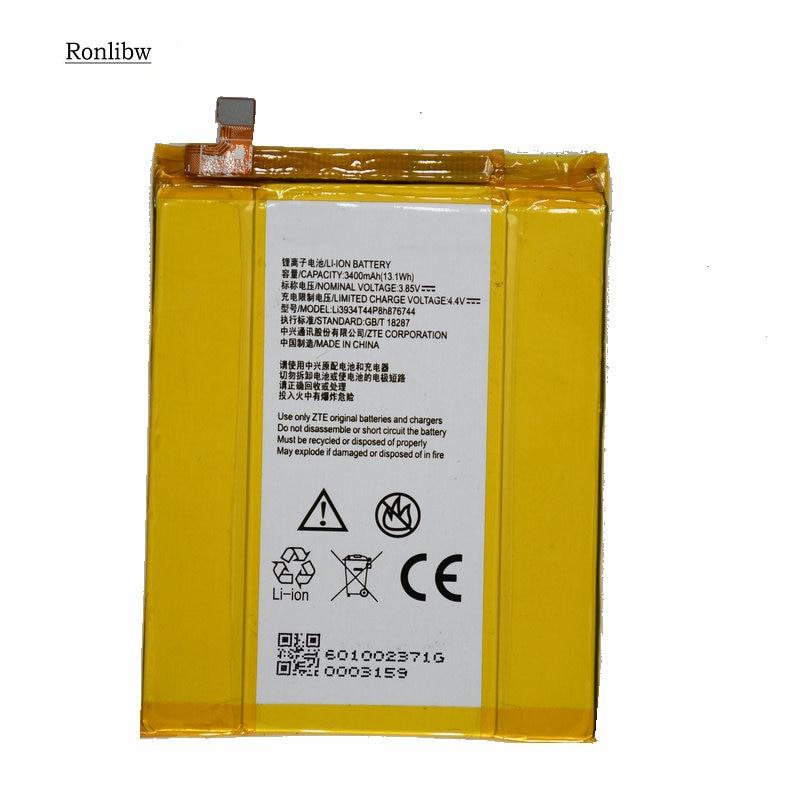 Ronlibw 3400 mah 13.1wh li3934t44p8h876744 substituição da bateria para zte grand x z988 max2 zmax pro z981