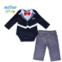 2018 autumn cute gentleman newborn baby boys infant rompersbaby pants long sleeve christmas outfit suit baby boys clothes set