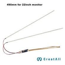 Kit universel de mise à jour des lampes à rétroéclairage LED pour moniteur LCD 2 ampoules LED de soutien à 22 de large 490mm