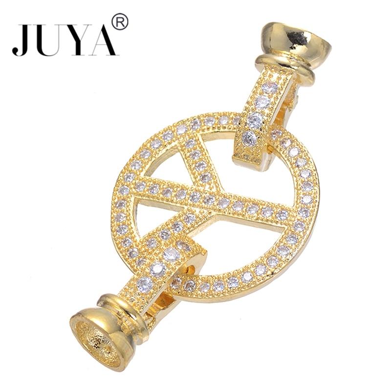 5 piezas al por mayor símbolo de la paz de cobre Micro pavimentar AAA joyería de circonia cúbica cadena cuentas extremo cierre accesorios de colgantes