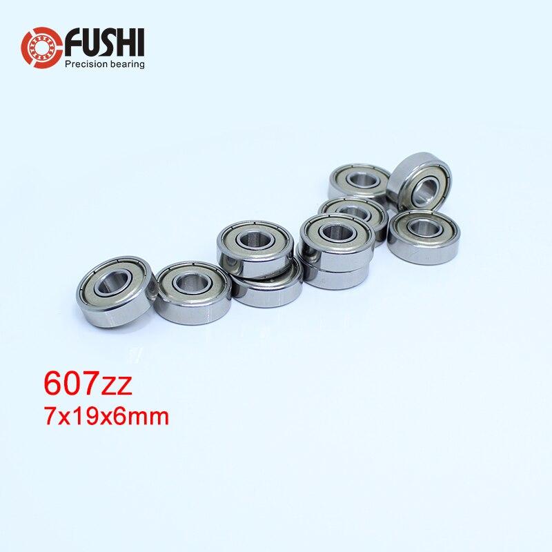 607ZZ Rolamento ABEC-5 (10 PCS) 7*19*6 MM 607Z Em Miniatura Rolamentos de Esferas 607 ZZ EMQ Z3 V3