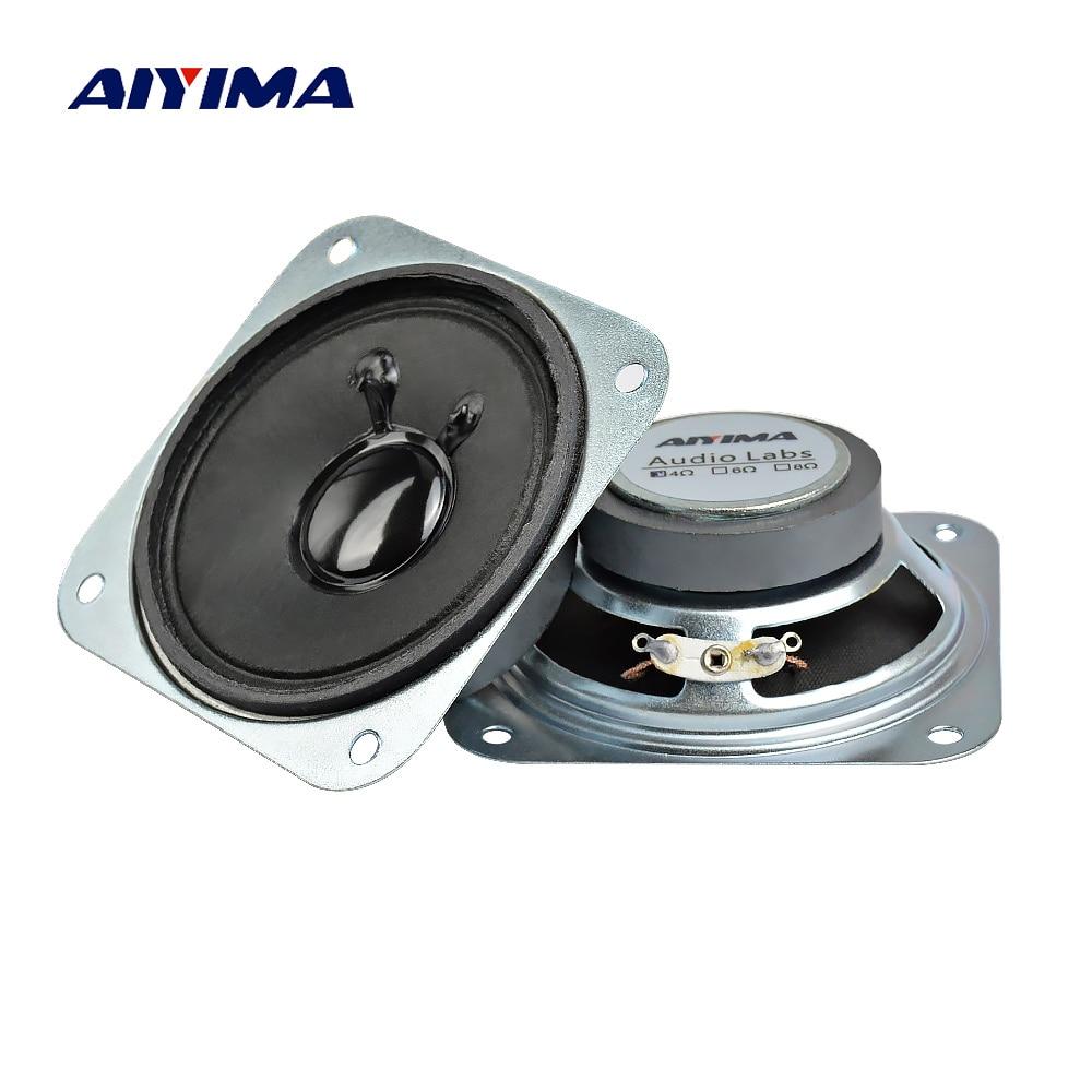 AIYIMA 2 шт. 4 Ом 3 Вт аудио динамик 2,75 дюймов 70 мм полный диапазон твитер Altavoz квадратный громкоговоритель DIY домашний кинотеатр звуковая система