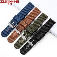 Di alta Qualità Camouflag Militare Nylon Cinturino Zulu Cinturino 22mm Tela Cinturino di Ricambio per Casio Seiko strumenti Gratuiti