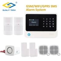 gs g90b plus wifi gsm alarm system security home gsm alarme system app control wired alarm pet immune pir detector diy kit