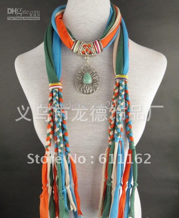 2018 free shipping Colorful braid scarf gorgeous colour pendant lady's scarf Mix Colors 24pcs