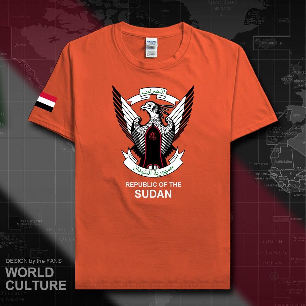North Sudan Sudanese men t shirt fashion 2018 jersey nation team 100% cotton t-shirt clothing tees country sporting SDN Islam 20