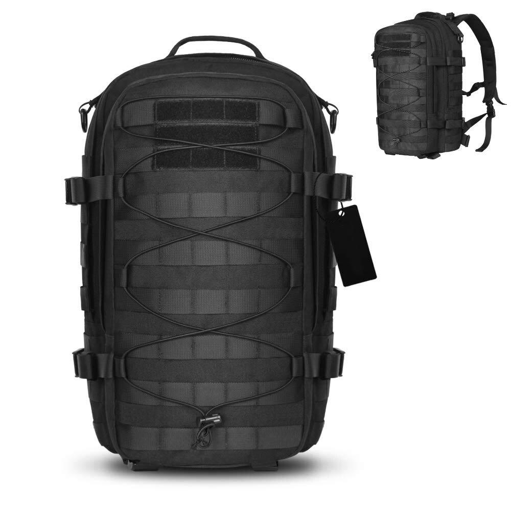 Mochila táctica al aire libre mochila de asalto militar Molle del ejército bolsa de insectos 1000D Nylon mochila para Camping senderismo