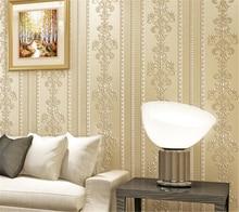 Beibehang-papier peint à rayures   Simple, stéréo européenne, papier peint gaufré, 3D, élégant, luxueux, pour chambre à coucher, salon, bureau