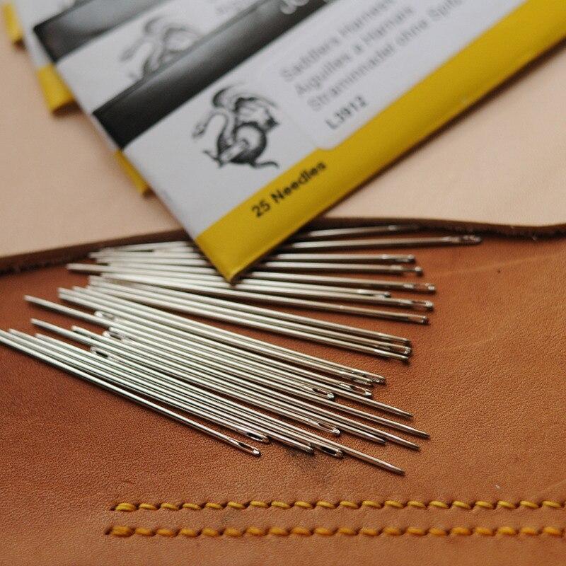 Aguja de mano Britain John James, aguja de cuero, aguja redonda, Diy, ropa de cuero, herramienta de mano, artesanía de cuero