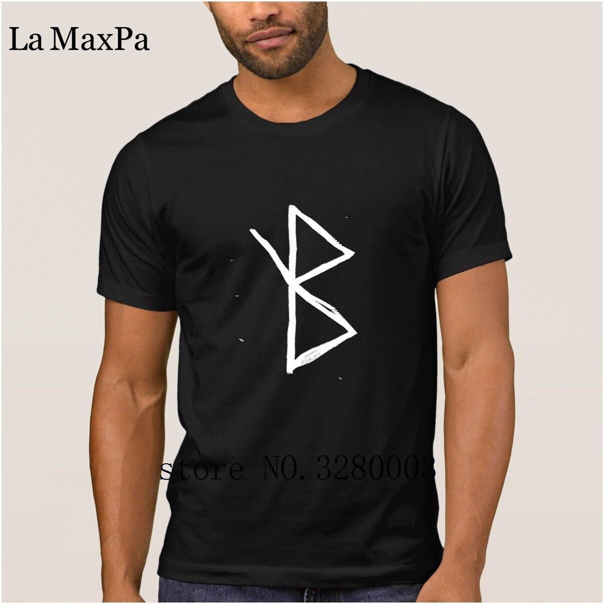 new mens t shirt healing viking symbol a rune based symbol meani mens t-shirt Spring Autumn Trend mens tshirt big sizes